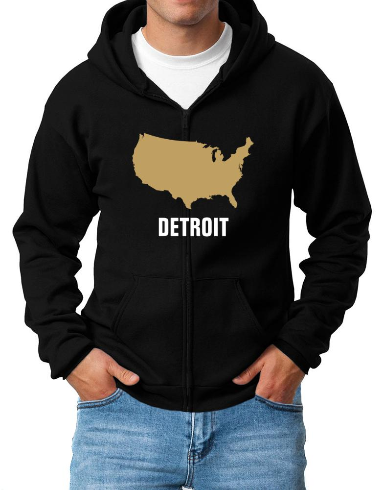 Detroit - Usa Map
