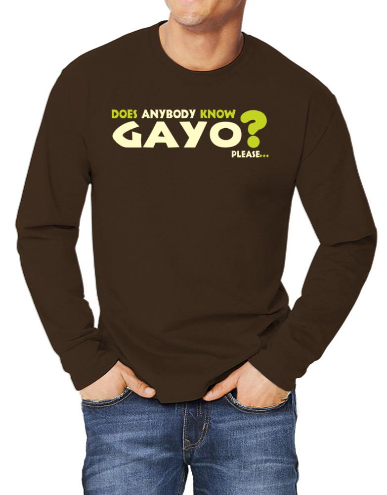 Does Anybody Know Gayo? Please...