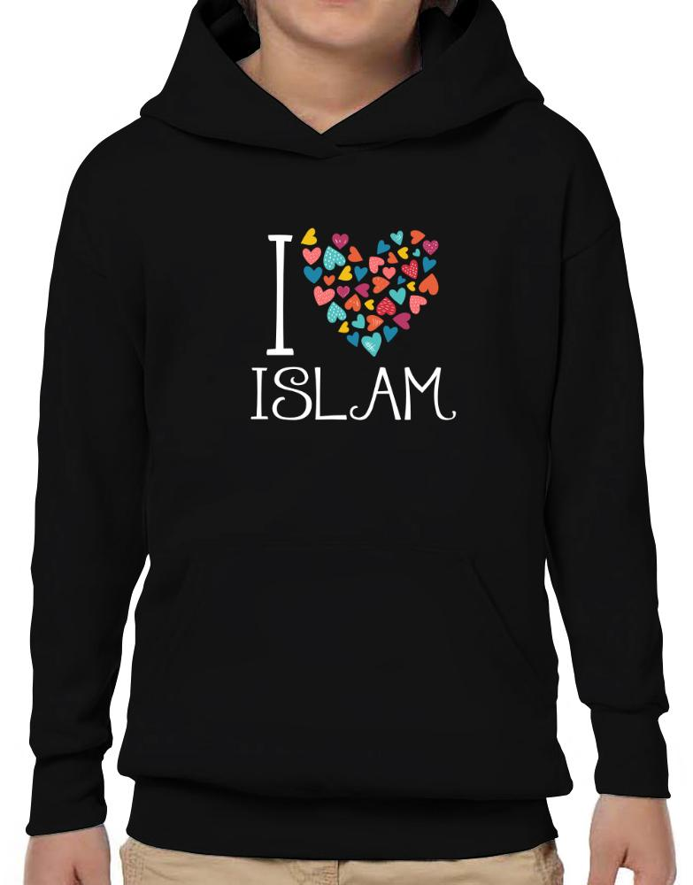 I love Islam colorful hearts