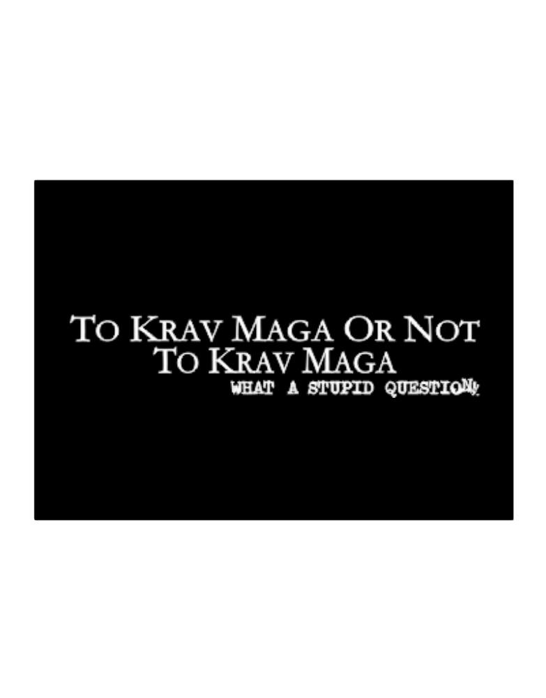 To Krav Maga Or Not To Krav Maga, What A Stupid Question