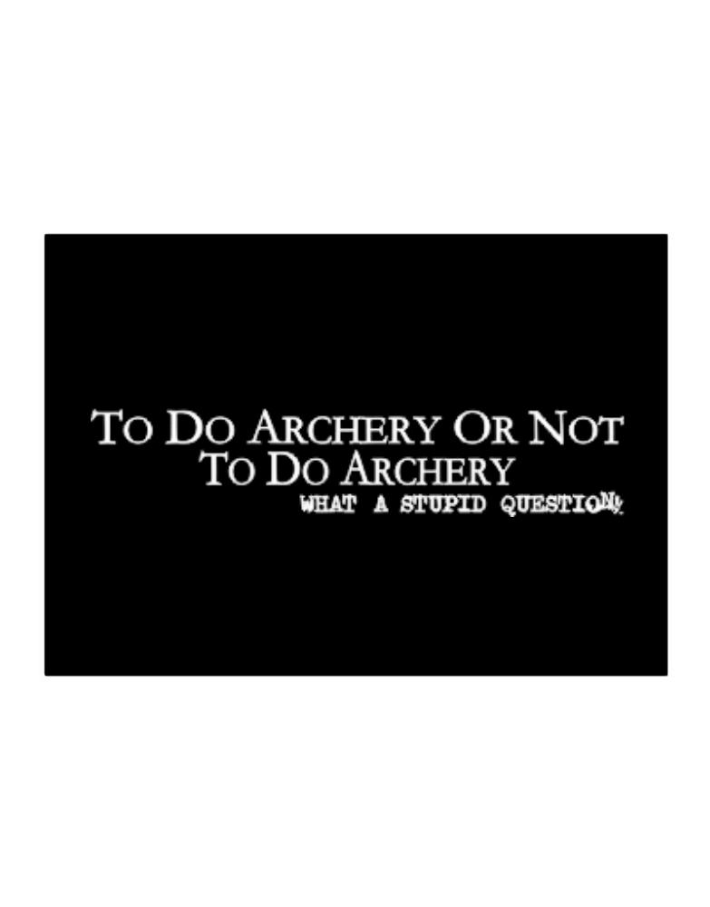 To Do Archery Or Not To Do Archery, What A Stupid Question