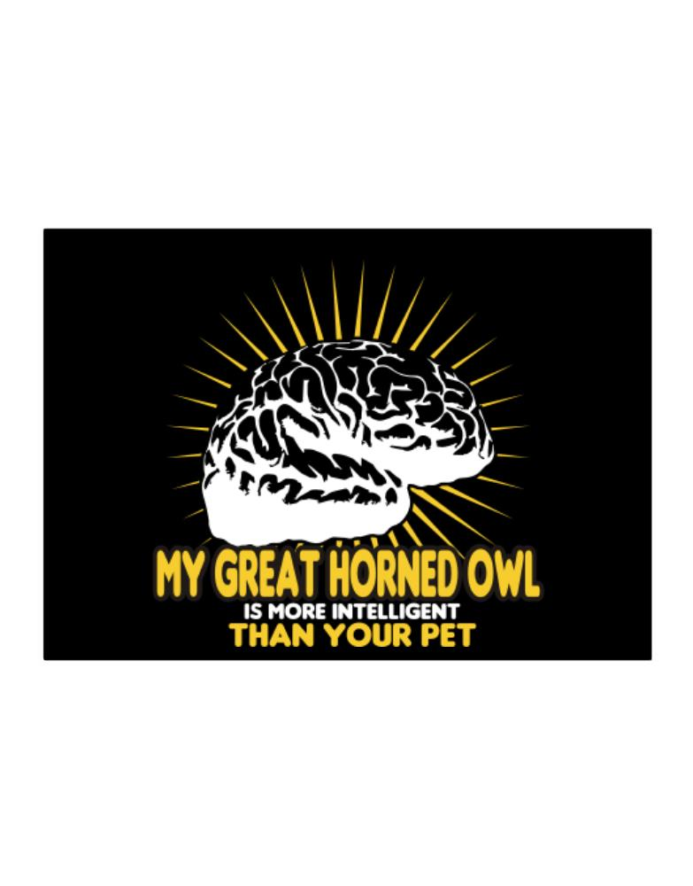My Great Horned Owl Is More Intelligent Than Your Pet