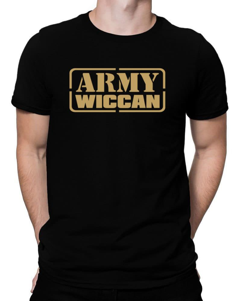 Army Wiccan Men T Shirt