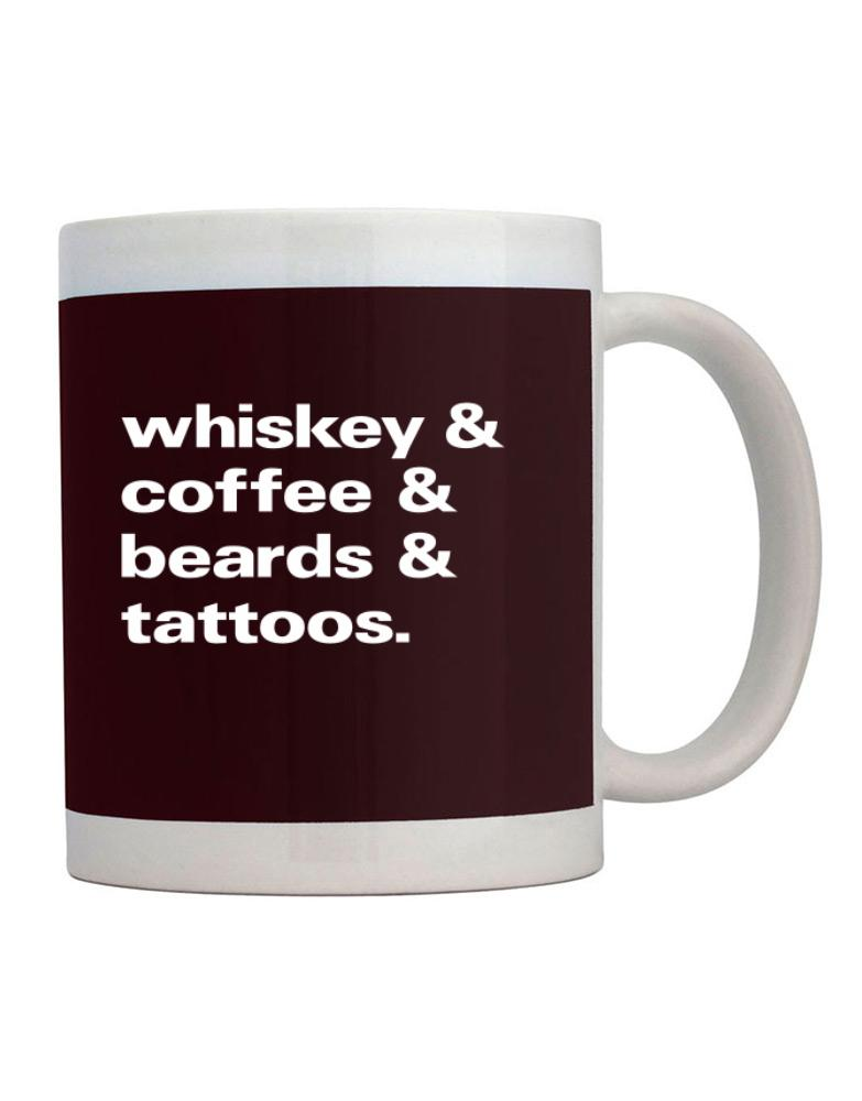 Whiskey coffee beards and tattoos